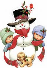 snowman with children holly 12 13 14
